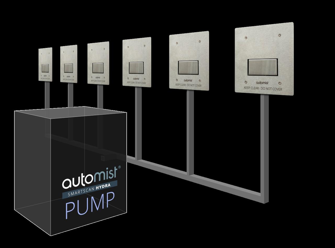 Automist Smartscan – Hệ thống chữa cháy thông minh lắp trên tường, dùng hơi nước