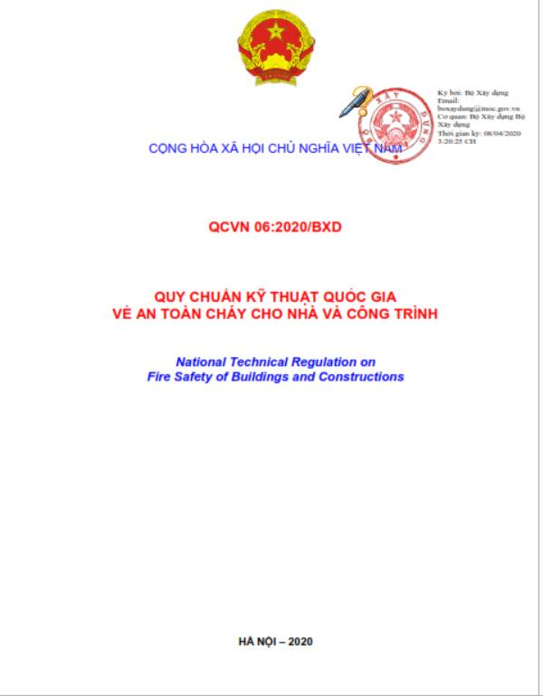 Những nội dung cơ bản của Quy chuẩn kỹ thuật quốc gia về An toàn cháy cho nhà và công trình QCVN 06:2020/BXD