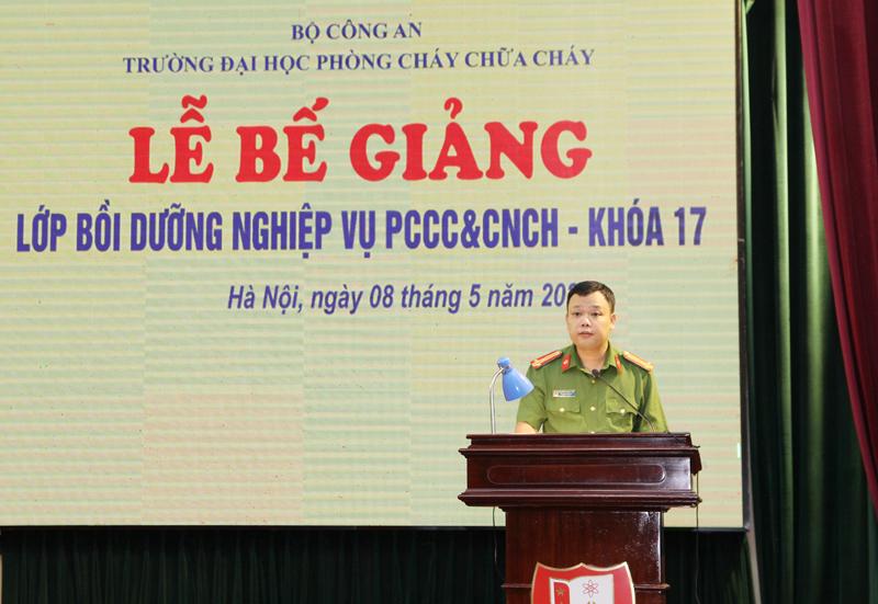 Lễ Bế giảng lớp Bồi dưỡng nghiệp vụ PCCC&CNCH – Khóa 17