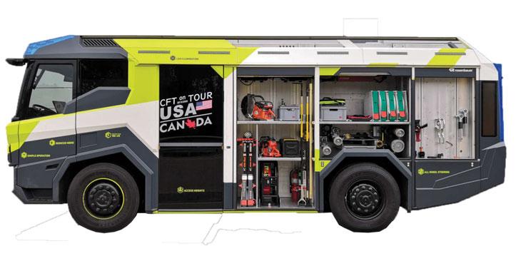 CFT – Xe chữa cháy chạy điện đầu tiên trên thế giới
