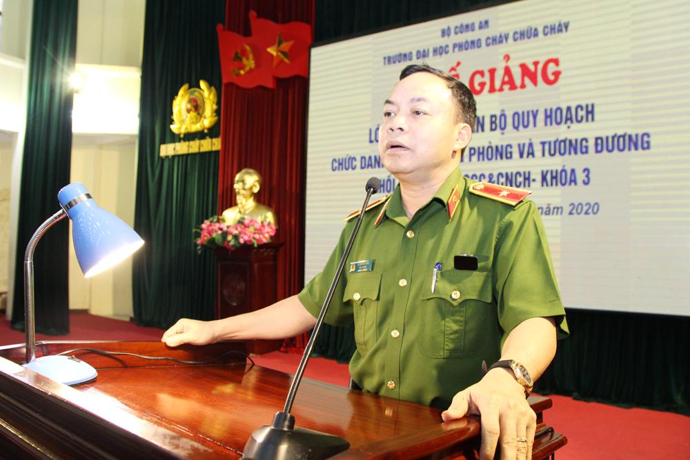 Bế giảng Lớp Bồi dưỡng cán bộ quy hoạch chức danh Phó trưởng Phòng và tương đương thuộc lực lượng Cảnh sát PCCC&CNCH – Khóa 3