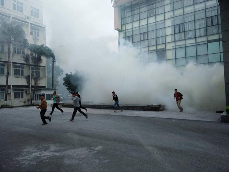 Đội Chữa cháy và cứu nạn, cứu hộ học tập tham gia diễn tập phương án năm 2020 cấp Ủy ban nhân dân Thành phố Hà Nội