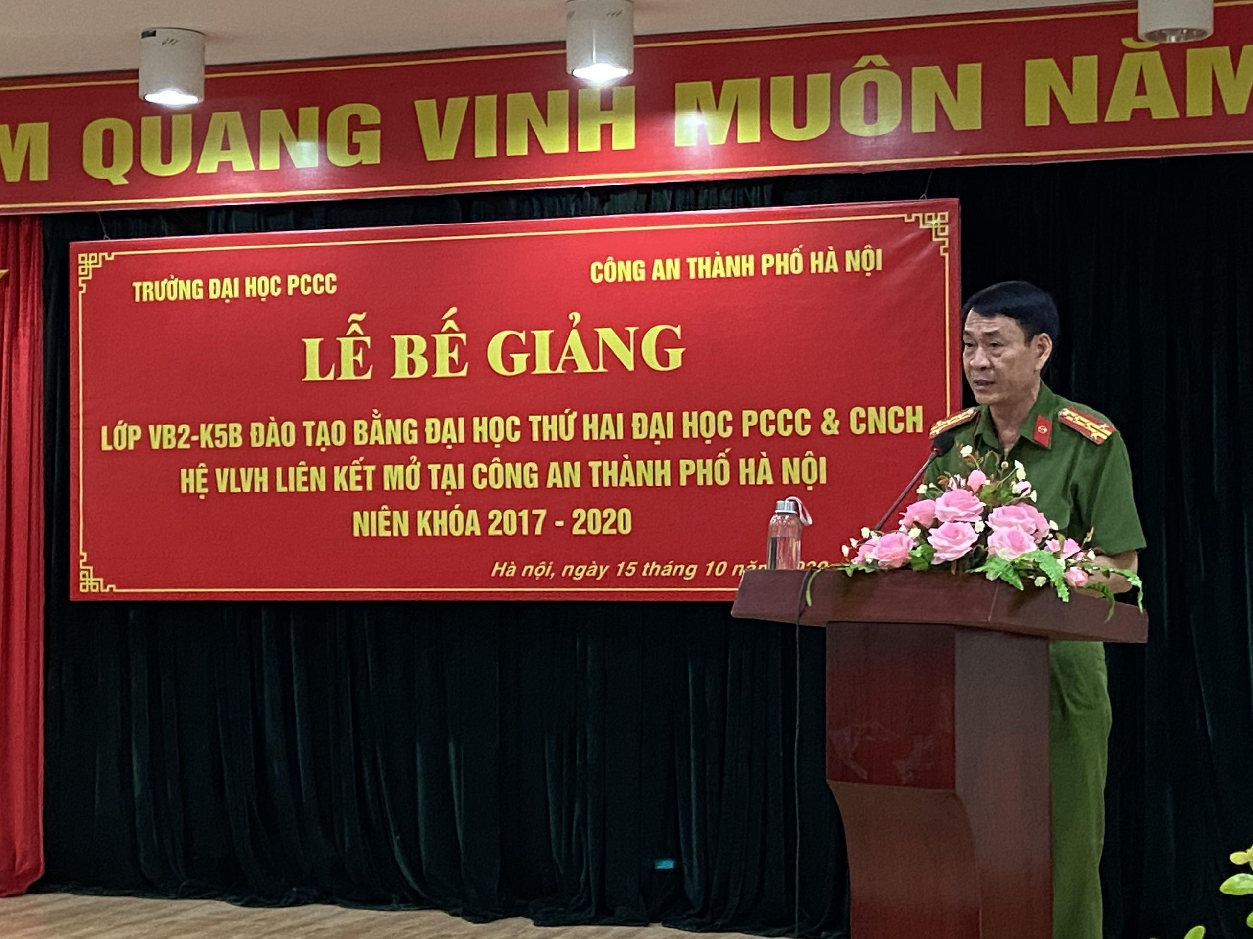 Bế giảng Lớp VB2-K5B đào tạo bằng đại học thứ hai Đại học PCCC&CNCH liên kết Công an Thành phố Hà Nội (Niên khóa 2017 – 2020)