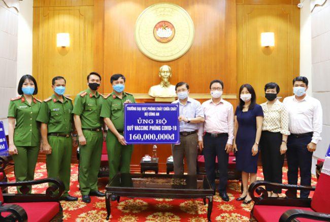 Trường Đại học PCCC chung tay ủng hộ công tác phòng, chống dịch COVID – 19