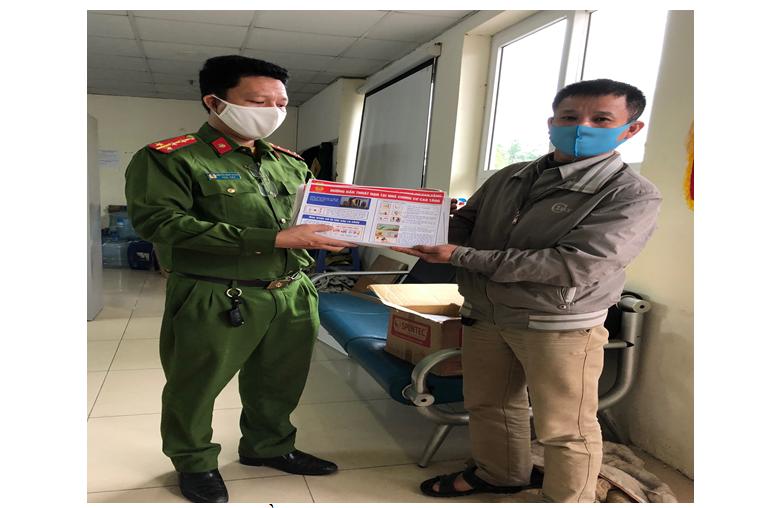 Phòng Cảnh sát PCCC&CNCH – Công an TP Hà Nội: Hướng dẫn, tuyên truyền đảm bảo an toàn PCCC&CNCH tại khu vực cách ly, điều trị bệnh nhân mắc COVID-19